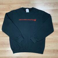 Vintage 90's Nike Classic Athletic Sweatshirt Crew Neck Medium Black Red USA