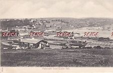 English Postcard. Falmouth, Cornwall from Castle Hill. Trains.  Fine!   c 1905