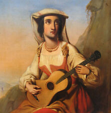 de Braak G. datiert 1848 BIEDERMEIER Italia ROMANTIK Belgien GENRE Gitarre