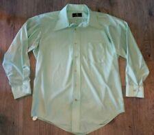 Vtg 60s 70s Van Heusen Dress Shirt Mid Century Stretch Nylon Disco L/S Mens