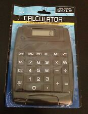 Large Display 8 Digit Black Desktop Calculator