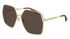 Neues AngebotGucci Sonnenbrille GG0817S  002 Goldbraun - Frau