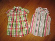 Lot of 2 Girls Gymboree Cotton Shirts: Daisy Delightful & Palm Beach Paradise 10