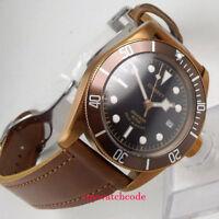 41mm CORGEUT black sterile dial coffee case Sapphire Glass automatic mens Watch