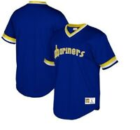 Mitchell & Ness Seattle Mariners Baseball Jersey New Mens Sizes MSRP $80