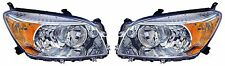 2006 - 2008 TOYOTA RAV-4 BASE LIMITED (CHROME) HEADLIGHTS LEFT & RIGHT PAIR SET