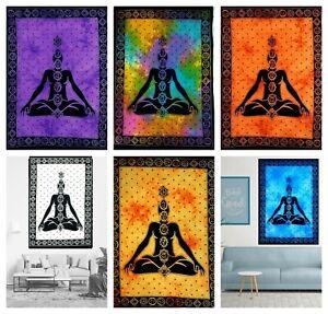 7 Chakra YOGA Mat Cotton Wall Hanging Mandala Ethnic Psychedelic Bohemian Poster