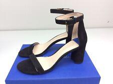 Stuart Weitzman 75 Less Nudist Black Suede heels size 9.5 M Sandal Strappy