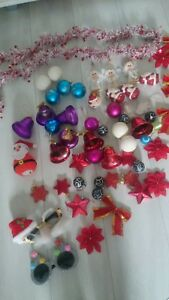 63x red white large mixed bundle XMAS christmas childrens tree decorations
