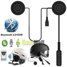 Motorcycle Helmet Headset Speakers Mic Bluetooth4.1 Handsfree Music Call Control