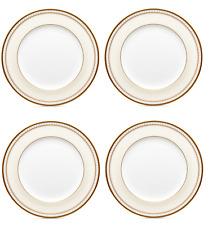 "New listing Noritake Dinnerware Set of 4 Salad Plates, Trefolio Gold - Fine Bone China 8.5"""