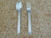 "VINTAGE SPLENDIDE 7 1/2"" STAINLESS STEEL 18/8 FLATWARE SET OF 2 KOREA"