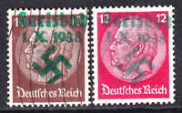 GERMANY 421-422 GREEN KARLSBAD OVERPRINTS CDS F/VF TO VF SOUND