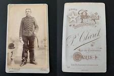 Claret, Paris, militaire  Vintage albumen print CDV. Tirage albuminé