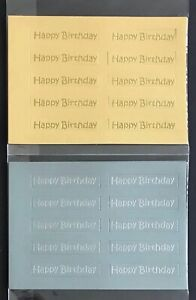 happy birthday mini straight banners / card toppers sentiments pk10