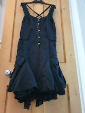 VTG Marithe Francois Girbaud Dress 14 Steampunk Gothic Layered Ruffle Bustle 42