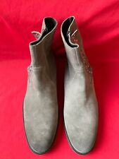 Zadig & Voltaire Grey Suede Studded Zip Men's Ankle Boots UK Size 9.5