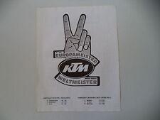 advertising Pubblicità 1977 MOTO KTM CROSS WELTMEISTER