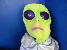 Green ALIEN w/ Purple Eyes Latex Halloween MASK
