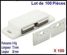 PROFITEZ,ON DESTOCK,Lot de 100 Loqueteaux Double Magnétique Aimant,Meubles,Porte