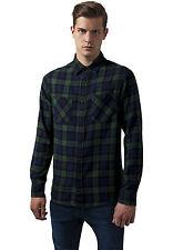 Checked Flanell Shirt 3 Urban Classics Streetwear Maglietta Uomo Camicia M Forest/nvy/blk
