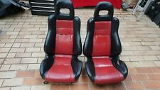 Org. 2x Ledersitze Sitze leather seats Honda CRX EE8 ED9 CIVIC EE9 88-91
