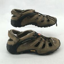 Merrell Continuum Chameleon II Web Trail Hiking Sandals Leather Brown Mens 10