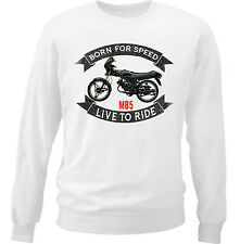 HONDA MB5 - NEW COTTON WHITE SWEATSHIRT ALL SIZES IN STOCK