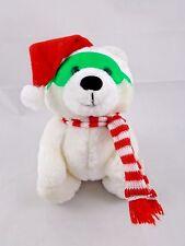 "Russ Grizzles Polar Bear Plush w/ Sunglasses Santa Hat Scarf 5.5"" Stuffed Animal"