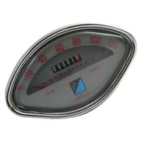 Vespa VBB GL GS Sprint Speedometer 0-120 Kmph Gray Face S2u