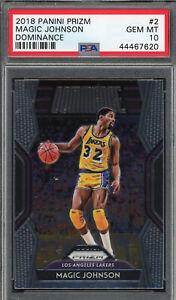 Magic Johnson Los Angeles Lakers 2018 Panini Prizm Basketball Card #2 PSA 10
