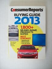 Consumer Reports 2013 Buying Guide