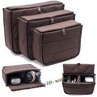 DSLR SLR Camera Bag Lens Padded Inner Bag Insert Case Lens Travel Bag Pouch New