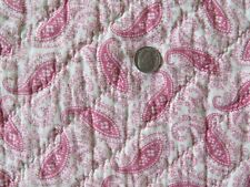 "American Antique Pink Paisley Quilted Fabric Piece c1870-1880~L-81""X W-10"""