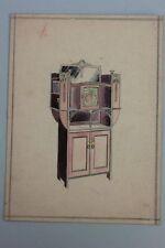 Vertiko bozza, acquerello, nouveau, tedesco, per 1905