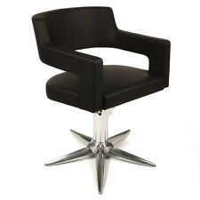 Creusa Black Modern Salon Styling Chair by Gamma & Bross - Made in Italy