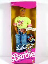 * Nib Barbie Doll 1990 All American Ken Reebok 9424