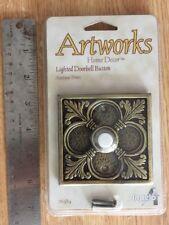New ARTWORKS Angelo Doorbell Push button door bell Square ANTIQUE BRASS 76389