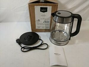 AmazonBasics 1.7L Glass and Stainless Steel Electric Water Kettle - OPEN BOX NEW