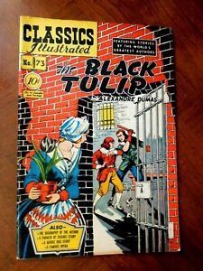 CLASSICS ILLUSTRATED #73 (1950)  FINE (6.0) cond. THE BLACK TULIP  (HRN 0)