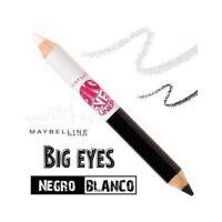 MAYBELLINE Big Eyes Eyeliner Duo Negro Blanco Delineador Ojos Lápiz Perfilador