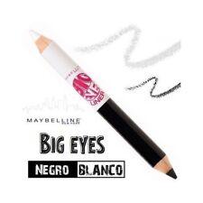 MAYBELLINE x 2 Big Eyes Eyeliner Duo Negro Blanco Delineador Ojos Lápiz