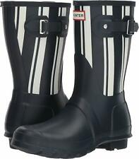 Hunter Women's Original Stripe Navy/White Rain Boots 11M NW/OB