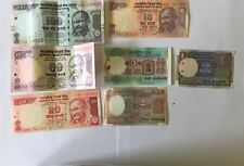 Nice Collection uncirculated Indian currency notes from Rs.100-Rs.1 before2018