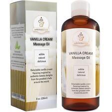 Vanilla Cream Edible Massage Oil Jojoba + Almond & Coconut Oil 100% NATURAL