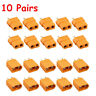 10Pairs XT-60 XT60 Male Female Bullet Connectors Plugs for RC Lipo Power Battery