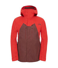 The North Face Men's NFZ Gore-Tex Ski Jacket Hot Chocolate Brown & Fiery Red M