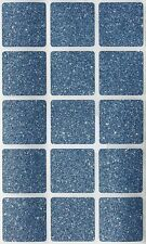 """Adhesive Color Coded Square Seal Labels 1.25"""" Glitter Sparkly Scrapbook Stickers"""
