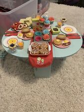 American girl blue kitchen table used