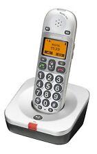 AUDIOLINE BigTel 200 schurloses Großtasten Telefon Senioren weiß/grau